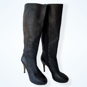 Vince Camuto tall black heeled boots 8 Emilian
